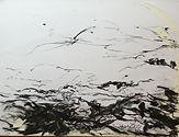 Journans 2017 Christine Lévy-Rostagnat 50 x60 fusain  papier marouflé sur toile
