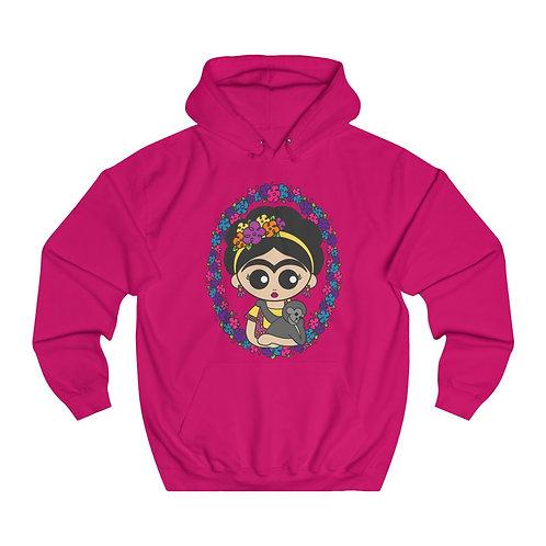Frida Monkey Unisex College Hoodie