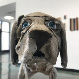 Contemplating Dog (detail)