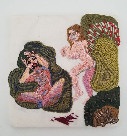 """""""You're The Worst"""", Embroidery, 2017, 5"""" x 4.75"""""""