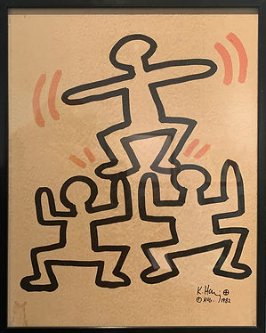 "Keith Haring, ""Bayer Suite"", 1982, Lithograph"