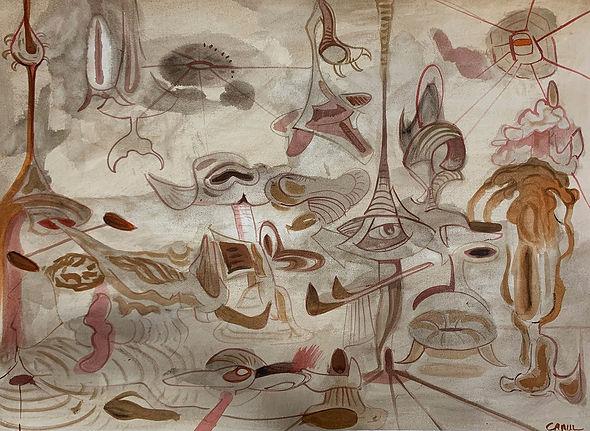 """""""Morphology II"""", 2011, Watercolor on Rives BFK, 22"""" x 30"""""""
