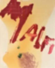 "Julian Schnabel, ""Malfi"", 1997, lithograph, 27"" x 23"""