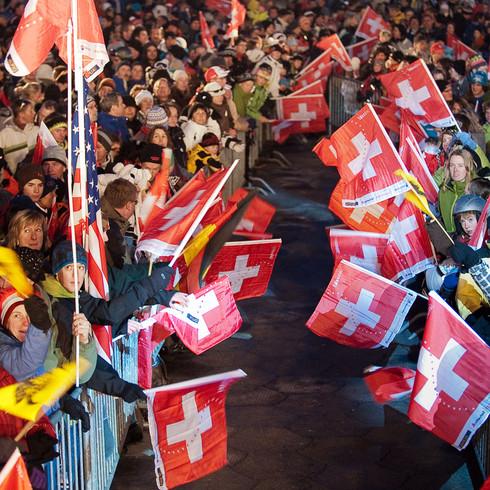Sportreportage Wengen FIS Skiweltcup