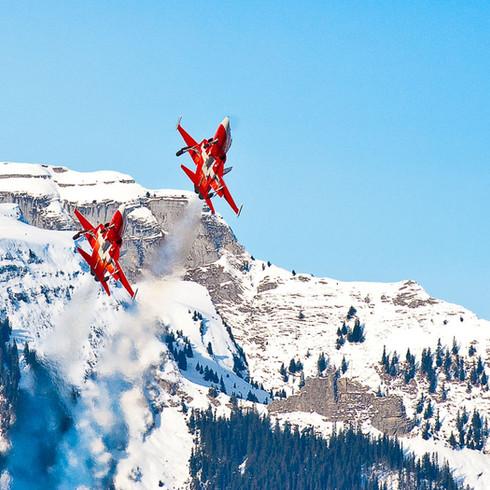 Patrouille Suisse, Adelboden Skiweltcup