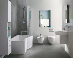 Асимметричная ванна Connect Air