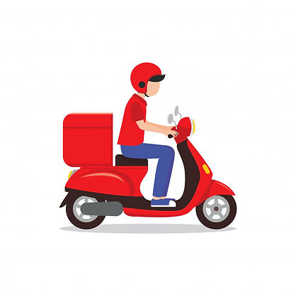 delivery-man-riding-red-scooter-illustra