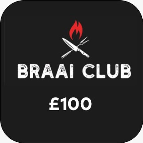 Braai Club Gift Card £100