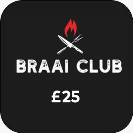 Braai Club Gift Card £25