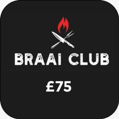Braai Club Gift Card £75