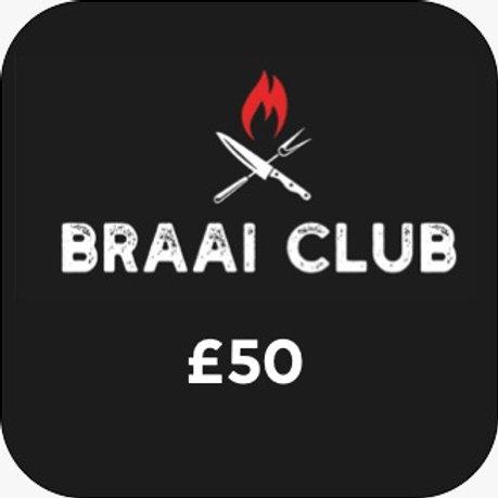 Braai Club Gift Card £50