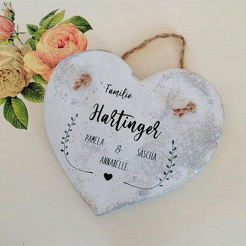 Beton Schild Herz