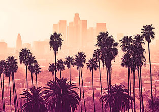 los-angeles-skyline-with-palm-trees-in-t