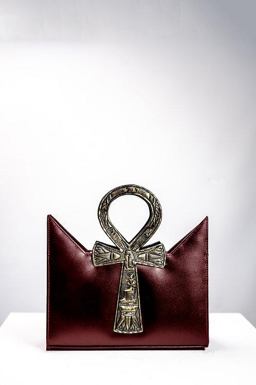 Burgundy Tote Ankh Bag