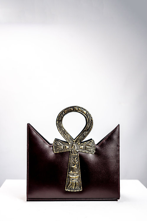 Brown Tote Ankh Bag