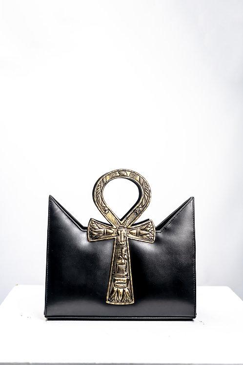 Black Gold Oxide Tote Ankh Bag