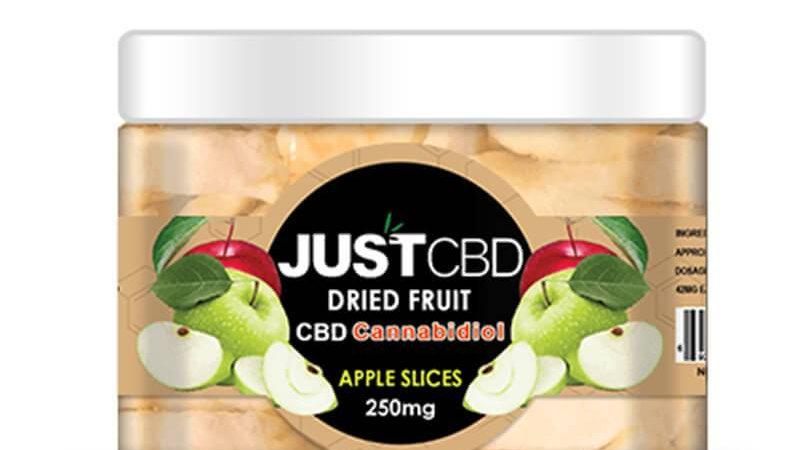 JustCBD - CBD Edible - Dried Apple Slices - 12mg