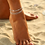 Thumbnail: Multi Row Crystal Chain Anklet Ankle Bracelet