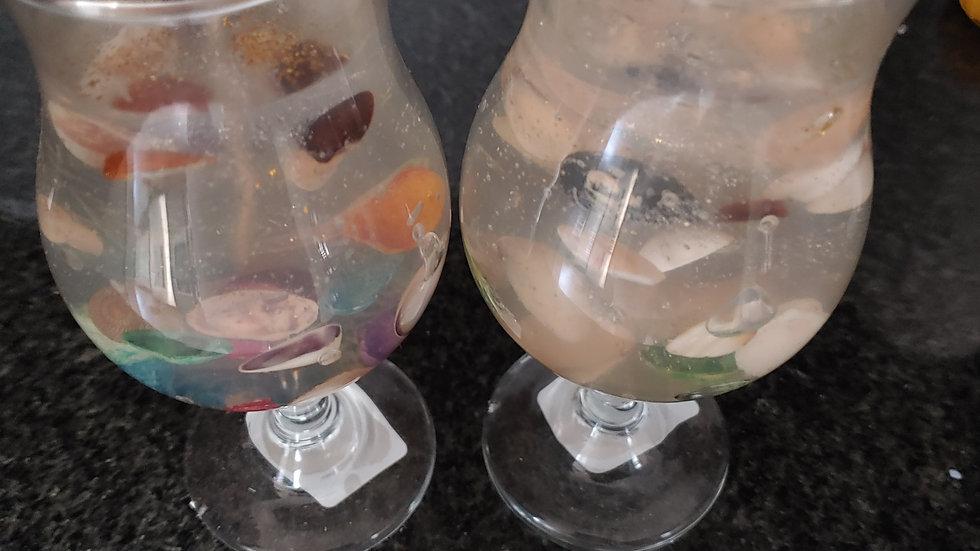 Daiquiri. Glass Jell Candles