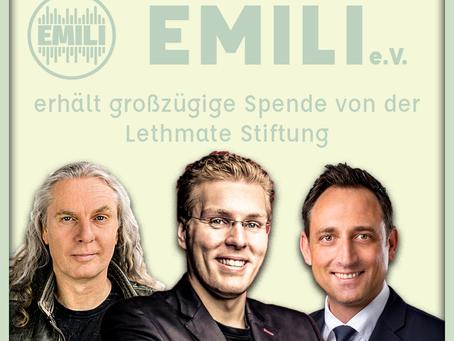 +++EMILI erhält 10.000 Euro-Spende von Lethmate-Stiftung+++