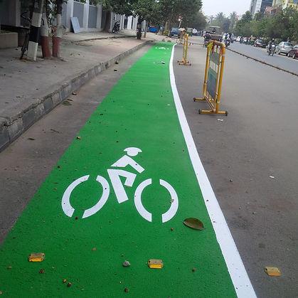 bicycle lane demarcatin bangalore
