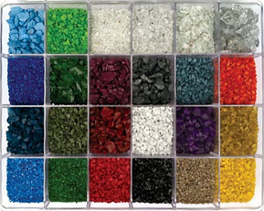 color coated glass aggregate