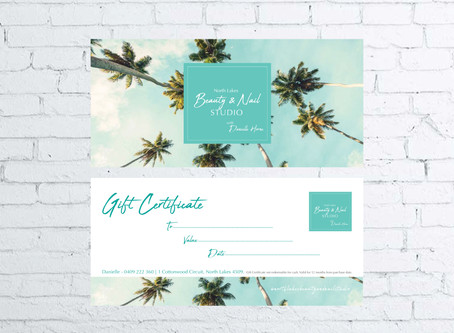 Spoil your customers with a customised Gift Certificate for your product or service!