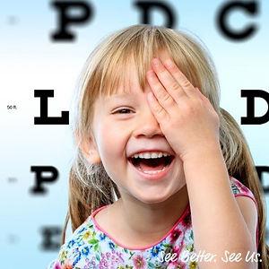girl, eye exam