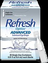 Refresh eye drops, artificial tears, dry eye drop