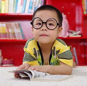 boy, eye exam, glasses, myopia