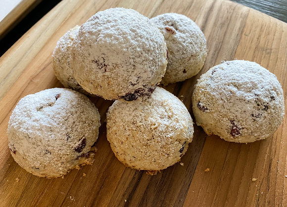 Toasted Coconut Cranberry Snowballs