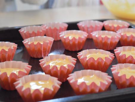 *お花のカップケーキ*お菓子教室