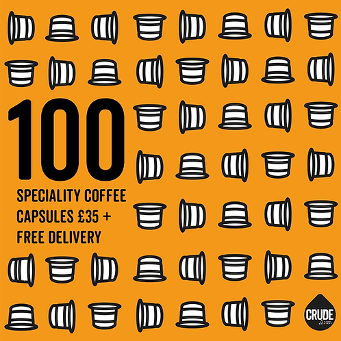 Crude Coffee Capsules (Bag of 100)