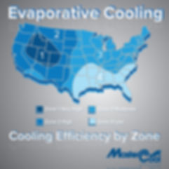 Evaporative Cooling Efficiency by Zone M