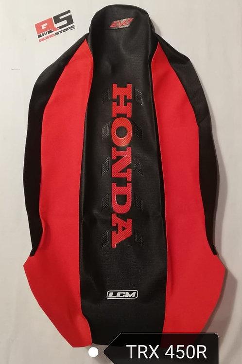 Funda asiento antideslizante LCM TRX 450 Negro Negro Rojo Comp Hon Ro