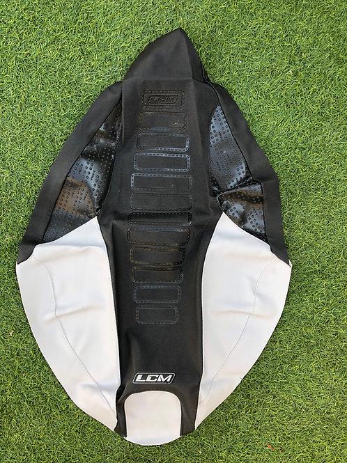 Funda asiento antideslizante LCM Yamaha YFZ450R Negro Blanco