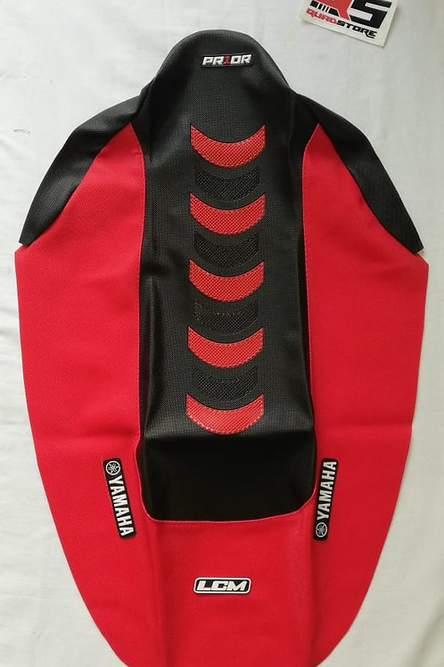 Funda asiento antideslizante LCM Raptor 700 Negro Rojo Rojo