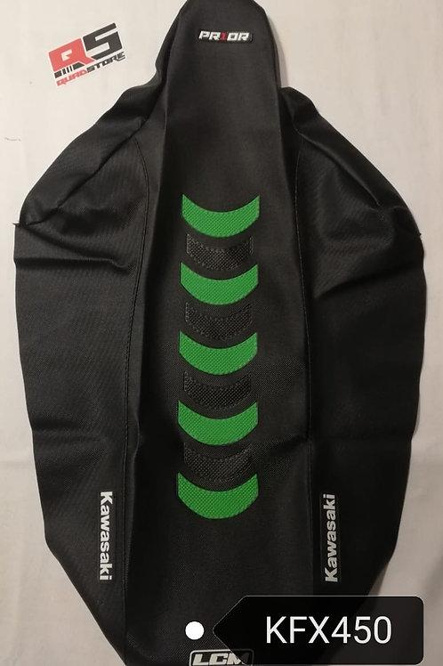 Funda asiento antideslizante LCM Yamaha KFX450 Negro Negro Verde