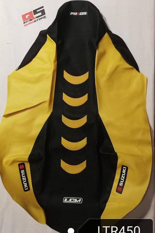 Funda asiento antideslizante LCM LTR 450 Negro Amarillo Amarillo