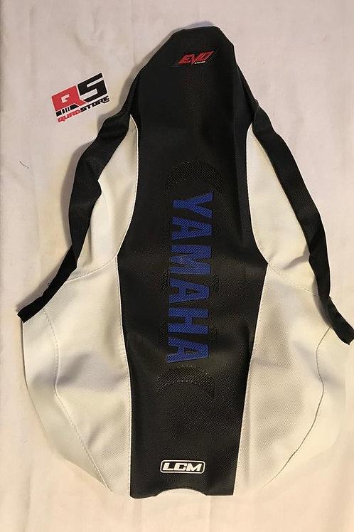 Funda asiento antideslizante LCM Yamaha YFZ450r Negro Blanco Negro