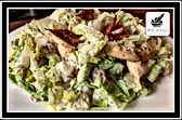 Chicken Caesar Salad with Crispy Serrano Ham