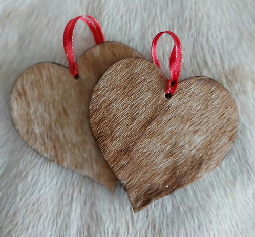 Double Sided  Lt. Brindle  Heart