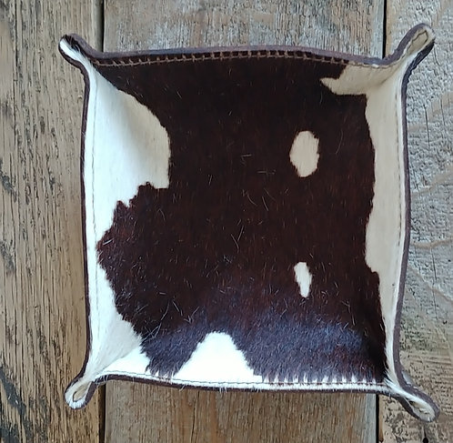 Valet Tray- Brown and White