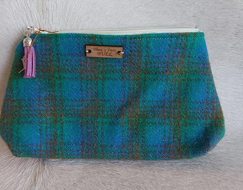 Vintage Wool Makeup Bags- Green Plaid