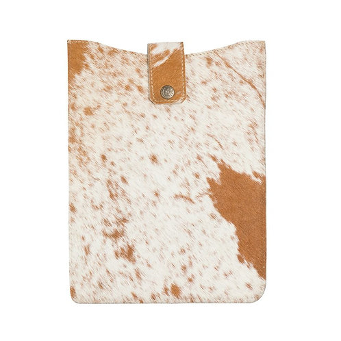 I Pad Cover- Brown and White