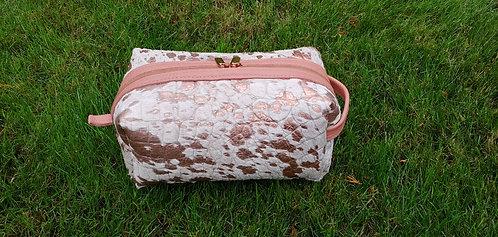 Large Makeup Bag-Rose Gold Acid Hide