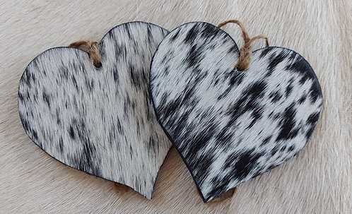 Double Sided Heart - Black and White S&P
