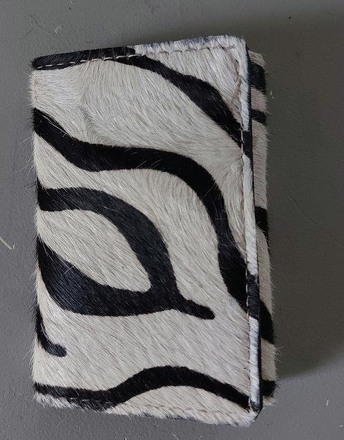 Tri Fold Wallet - Zebra