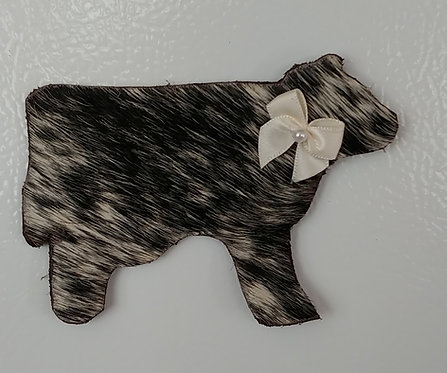 Cowhide Magnets=Black and White