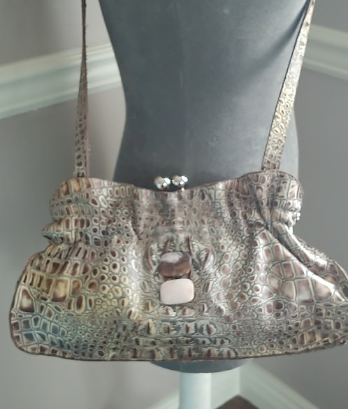 Croc Stamped Leather- Arohoe Bag